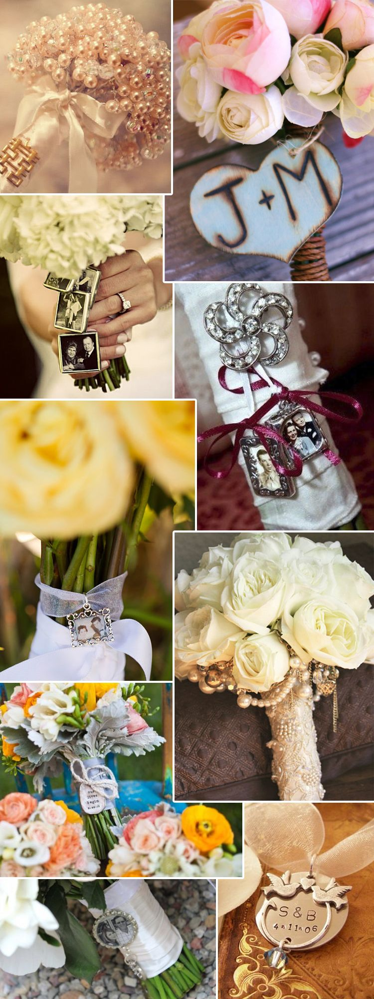 Bouquet Charms .. keep the memory of the ones you've lost close to your heart during the wedding ceremony