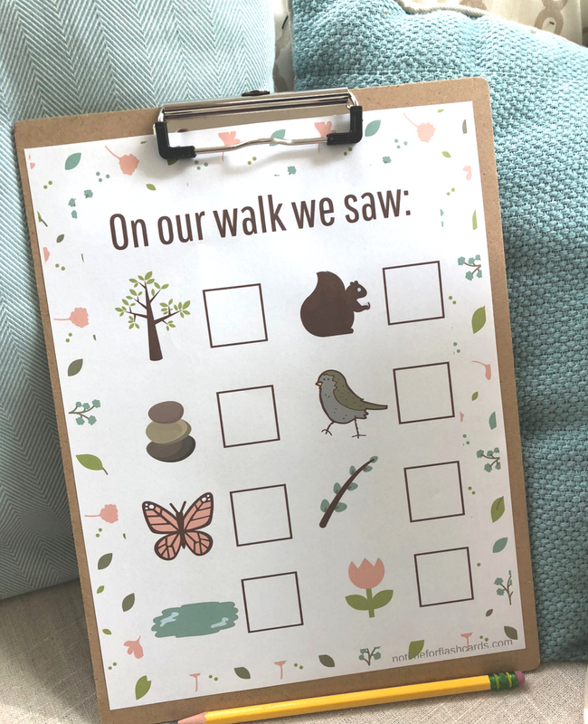 Photo of Nature Walk & Count – Gross Motor Math Activity ( and free printable) – No Time For Flash Cards