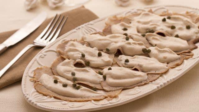 Ricetta Vitello Tonnato Vegetariano.Vitello Tonnato Ricetta Ricette Pasti Italiani Idee Alimentari