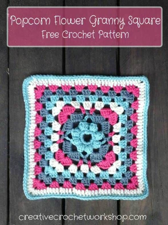 Popcorn Flower Granny Square | Muster