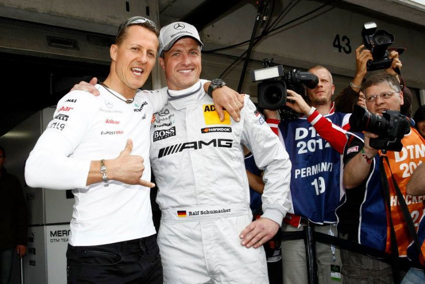 michael schumacher supporting his brother ralf at dtm. Black Bedroom Furniture Sets. Home Design Ideas