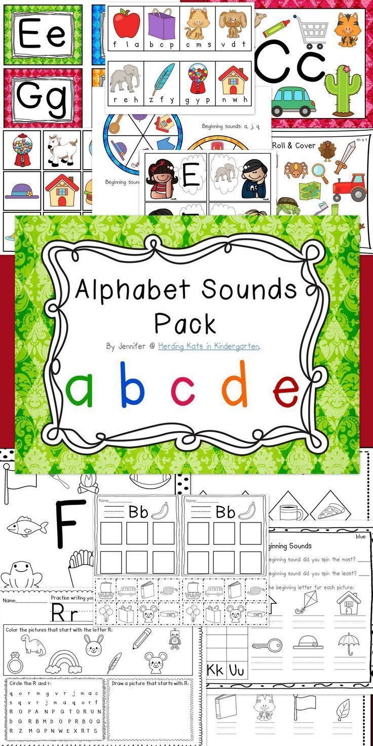 Alphabet Letter Sounds Pack  Initial Sounds Phonics And Morning Work