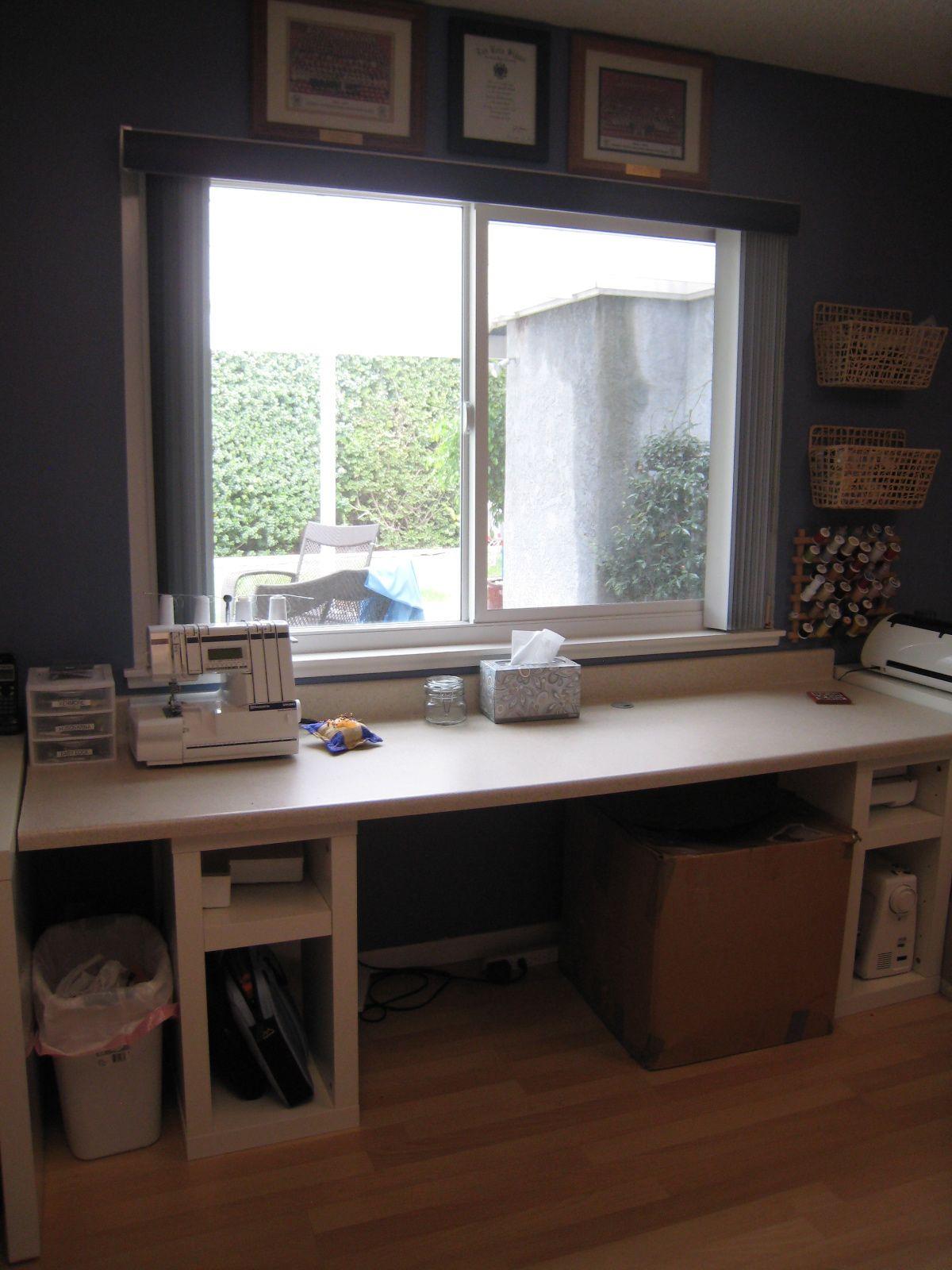 Sewing Table - Ikea Shelves
