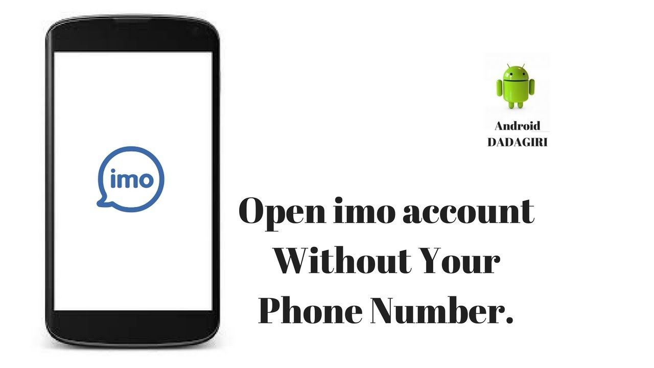 How to activate imo without mobile number Mobile number