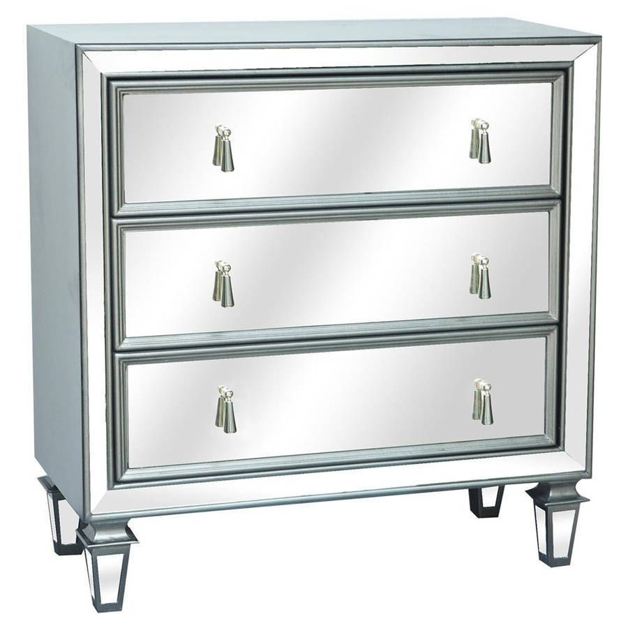 Hollywood regency glam style mirrored chest nightstand table 3 hollywood regency glam style mirrored chest nightstand table 3 drawers geotapseo Image collections