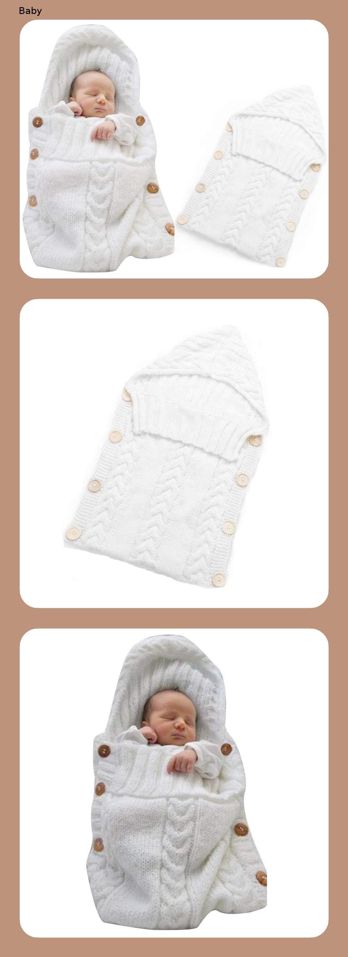 Neugeborenes Baby Gestrickt Wickeln Swaddle Decke Schlafsack Fur 0