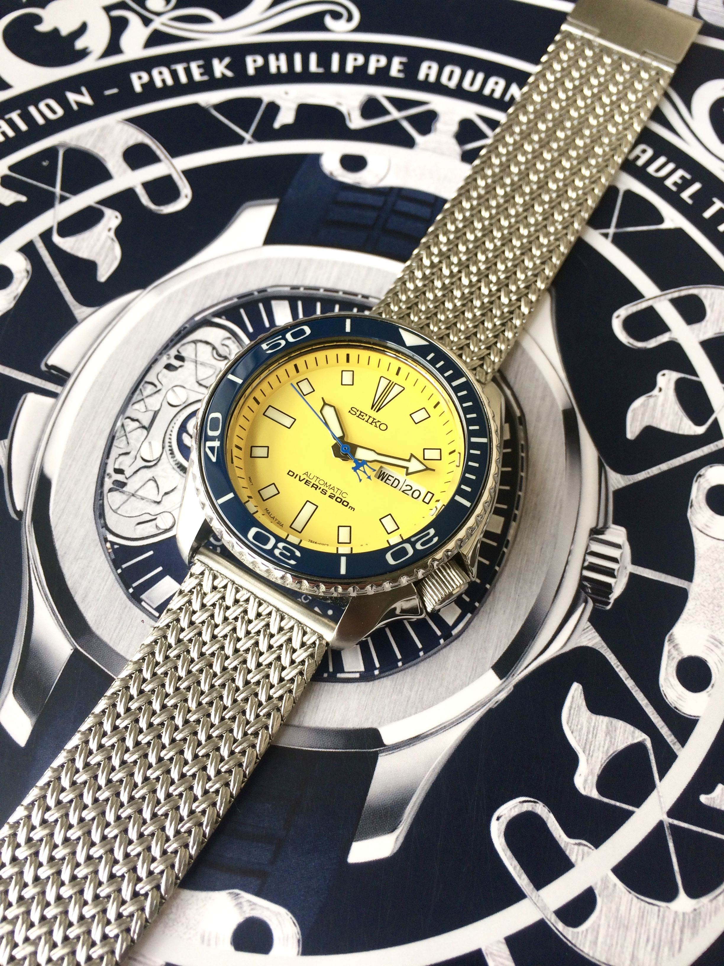 Skx Stock Quote Seiko Skx Yellow A35 Modded With Ceramic Bezel From Lcbi And