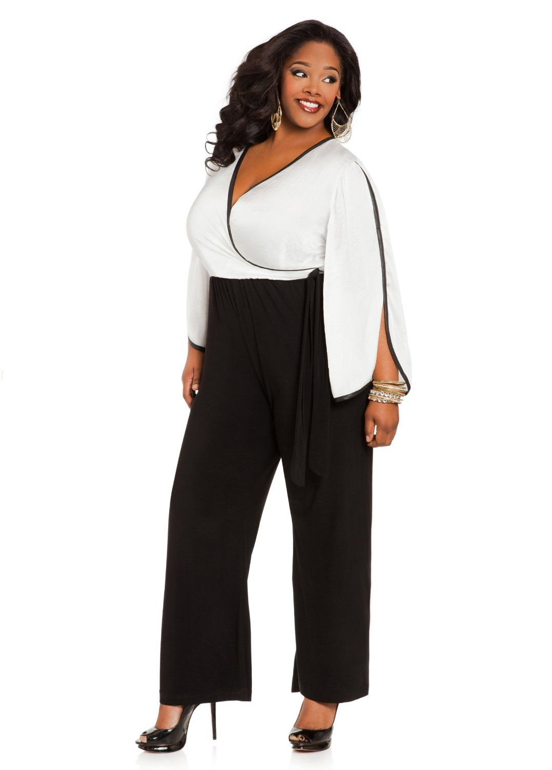 Ashley Stewart Women's Plus Size Color Block Jumpsuit ($35 ...