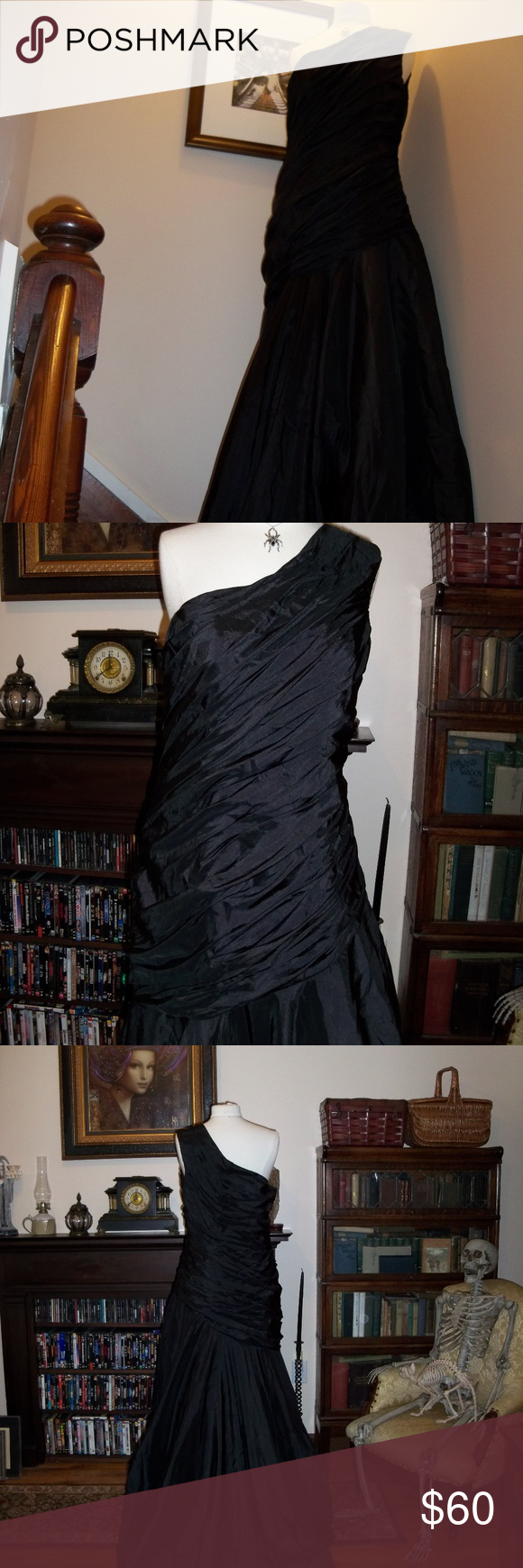 Light In The Box Gathered One Shoulder Gown Gothic Wedding Size
