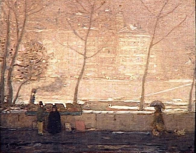 """James Wilson Morrice, """"Quai des grands-augustins"""", c.1904"""