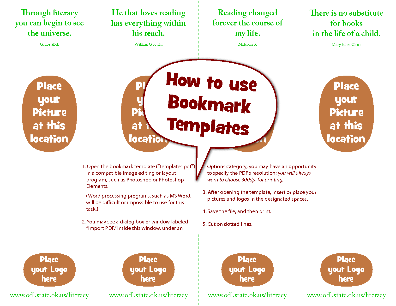 Free Bookmark Templates  Google Search  Printables