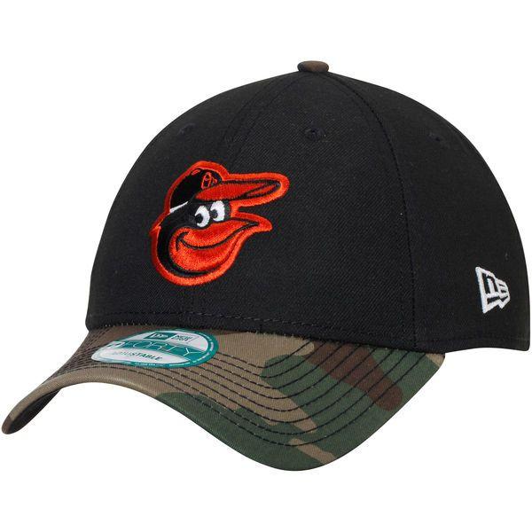 f117de4cd3d Men s Baltimore Orioles New Era Black Camo The League 9FORTY Adjustable Hat