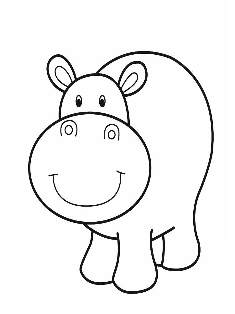 Hippo Coloring Sheets For Preschool Hippo Is A Large Semi Aquatic Mammals That Inhabit Mos In 2020 Zoo Animal Coloring Pages Animal Coloring Pages Cute Coloring Pages
