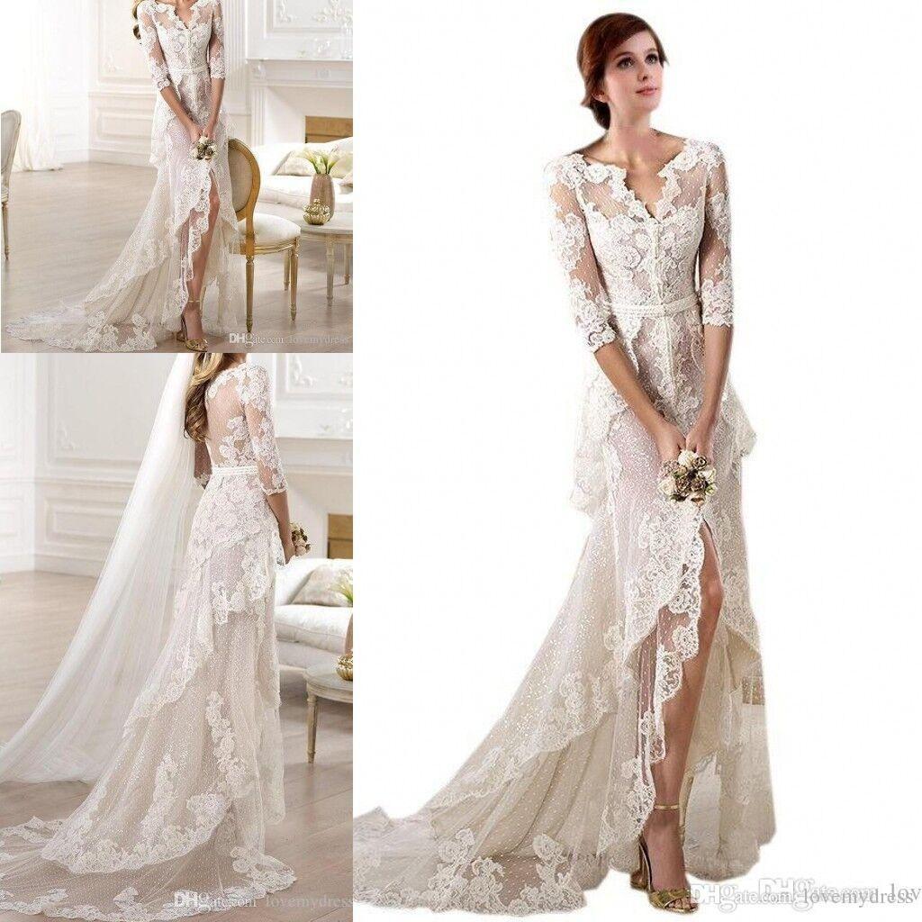 c57112588fb78 Couture Wedding Dresses | Wedding Dresses Bohemian | Lace beach ...