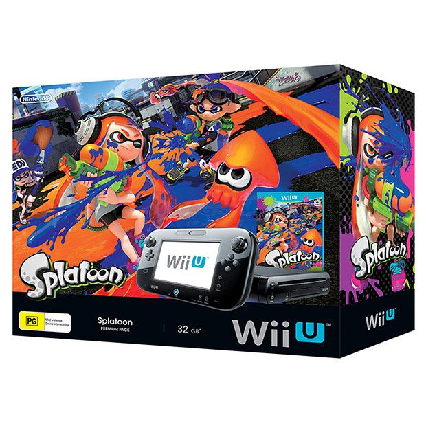 Nintendo Wii U 32GB Premium Console + Splatoon Game Bundle