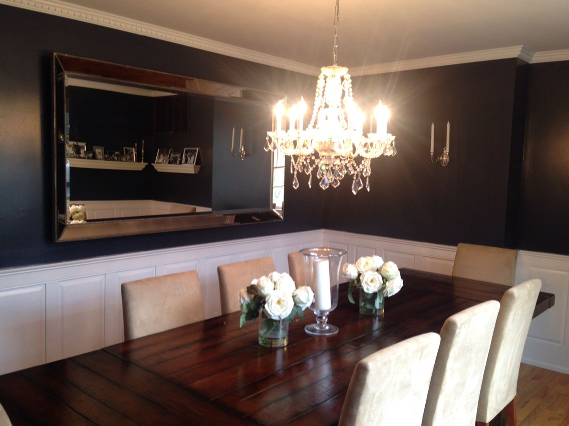 Best Hale Navy Benjamin Moore Dining Room Blue Dining Room 400 x 300