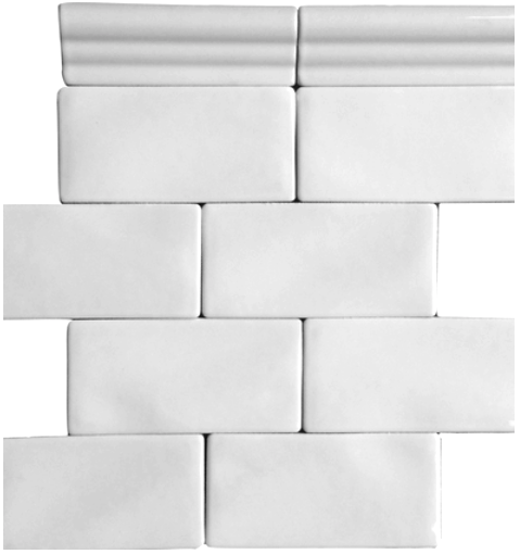 Whisper White 3 X 6 Handcrafted Glazed Ceramic Handcrafted Subway Tile White Ceramic Tiles Tile Backsplash Bathroom