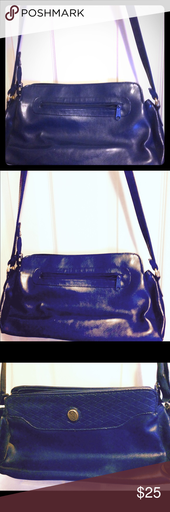 Pocketbook Very nice great condition blue all leather purse. Bags Shoulder Bags