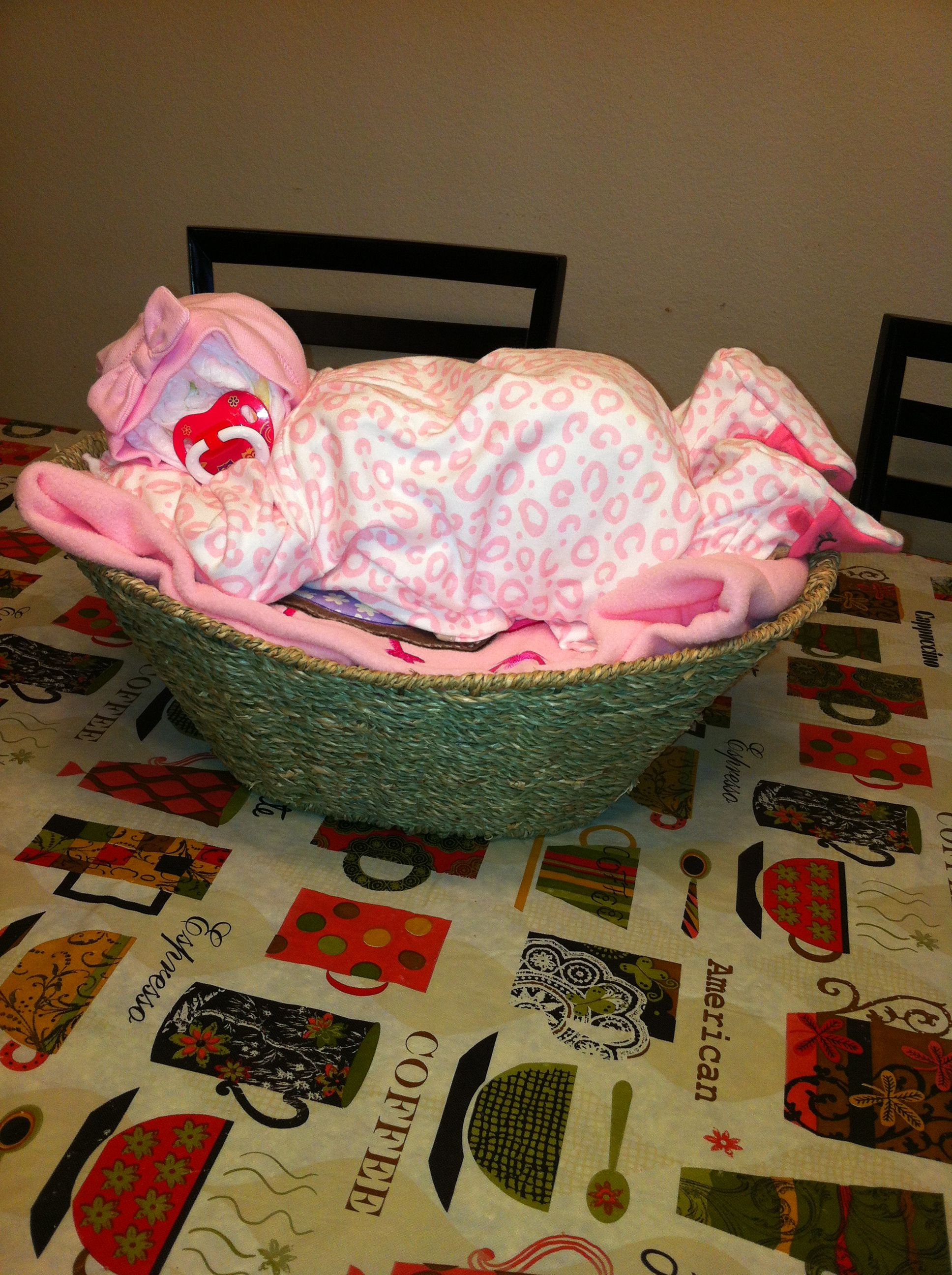 Baby diaper cake!