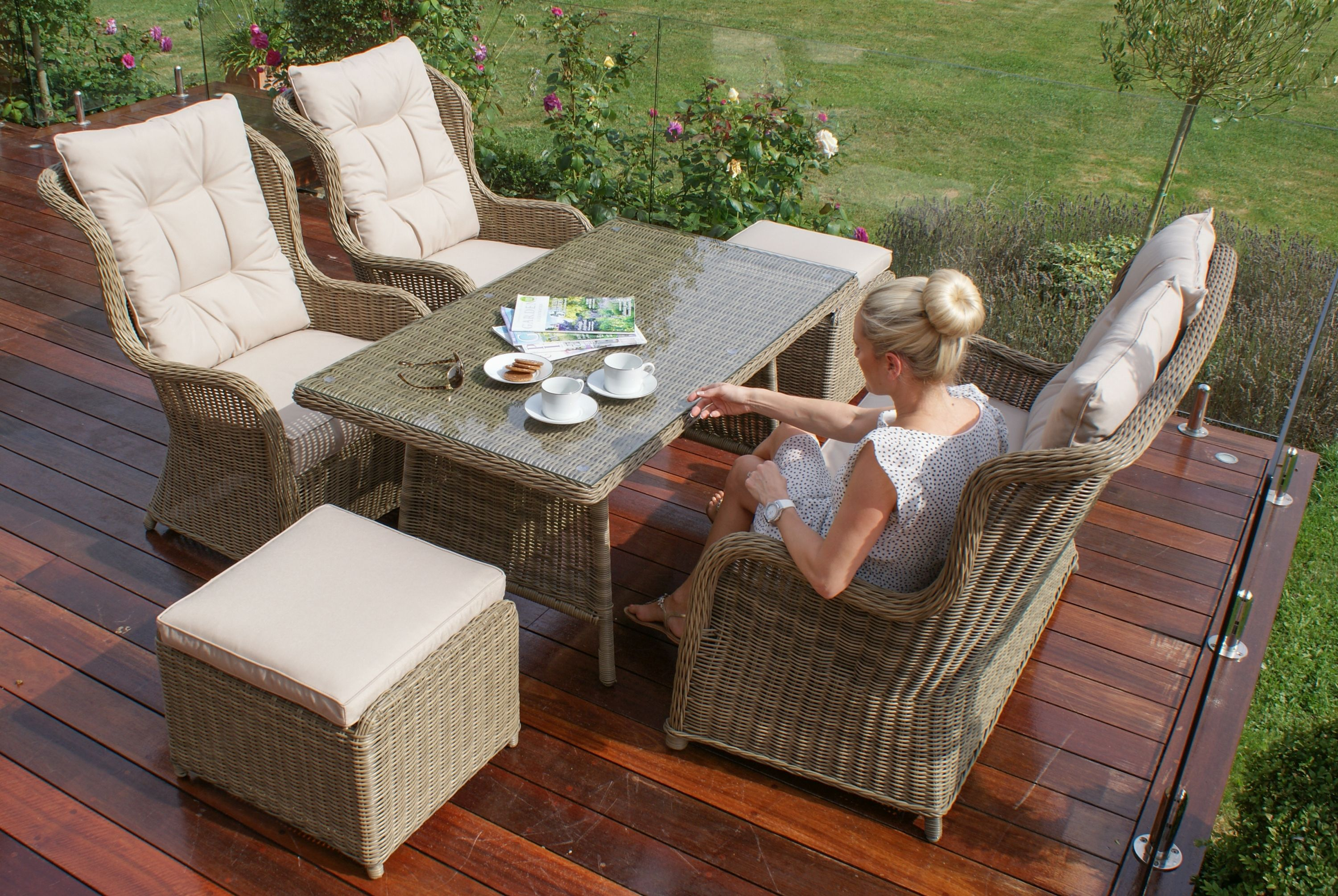 Maze Rattan Winchester High Back Casual Sofa Dining Set is the ideal ...