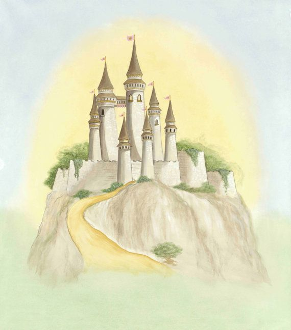 Fairy Tale Castle Print - Large Original Kids Wall Art | Kid wall ...
