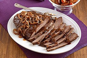 Enjoy delicious, smoky flavor with this smoked beef brisket. Brown sugar, chili powder and BBQ sauce give this beef brisket incredible flavor.