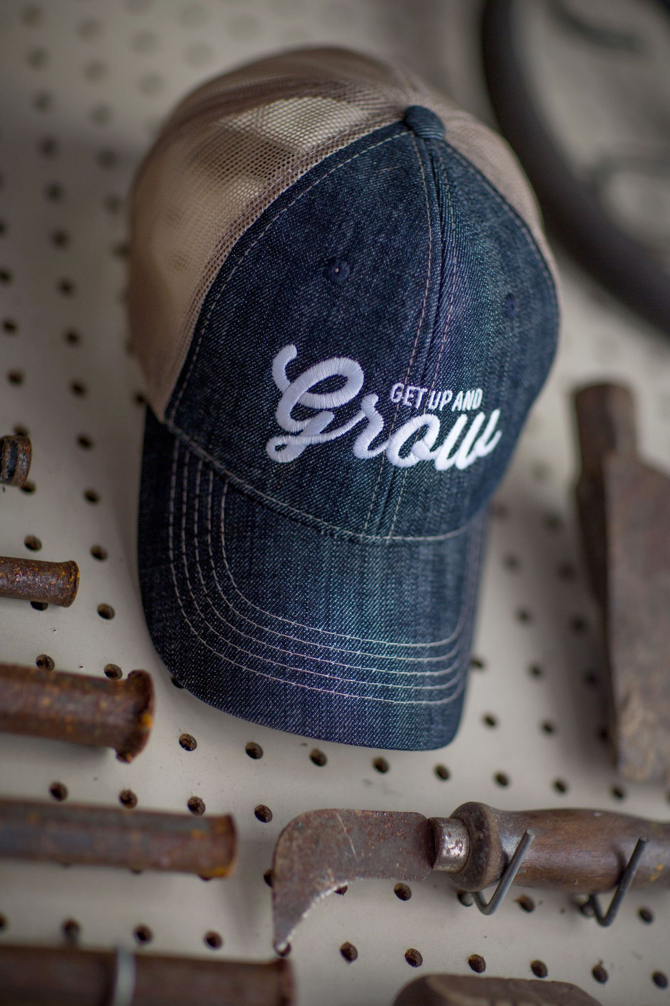 GET UP AND GROW TRUCKER CAP