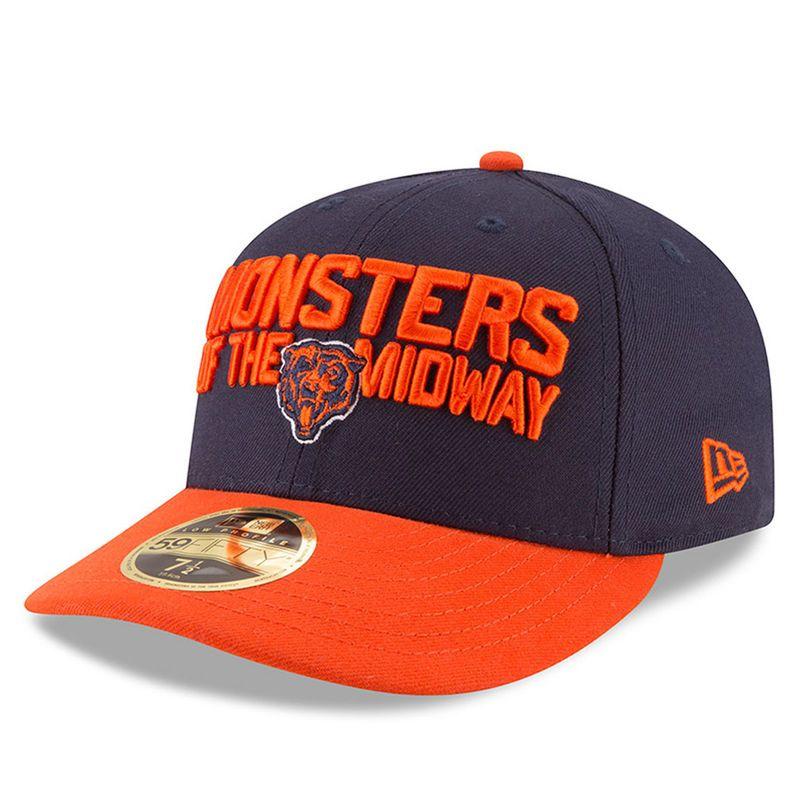 49f991008bb ... italy chicago bears new era 2018 nfl draft spotlight low profile 59fifty  flex hat navy orange