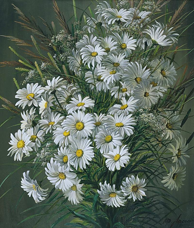 Полевые цветы в живописи. | Рисунки цветов, Раскраска по ...