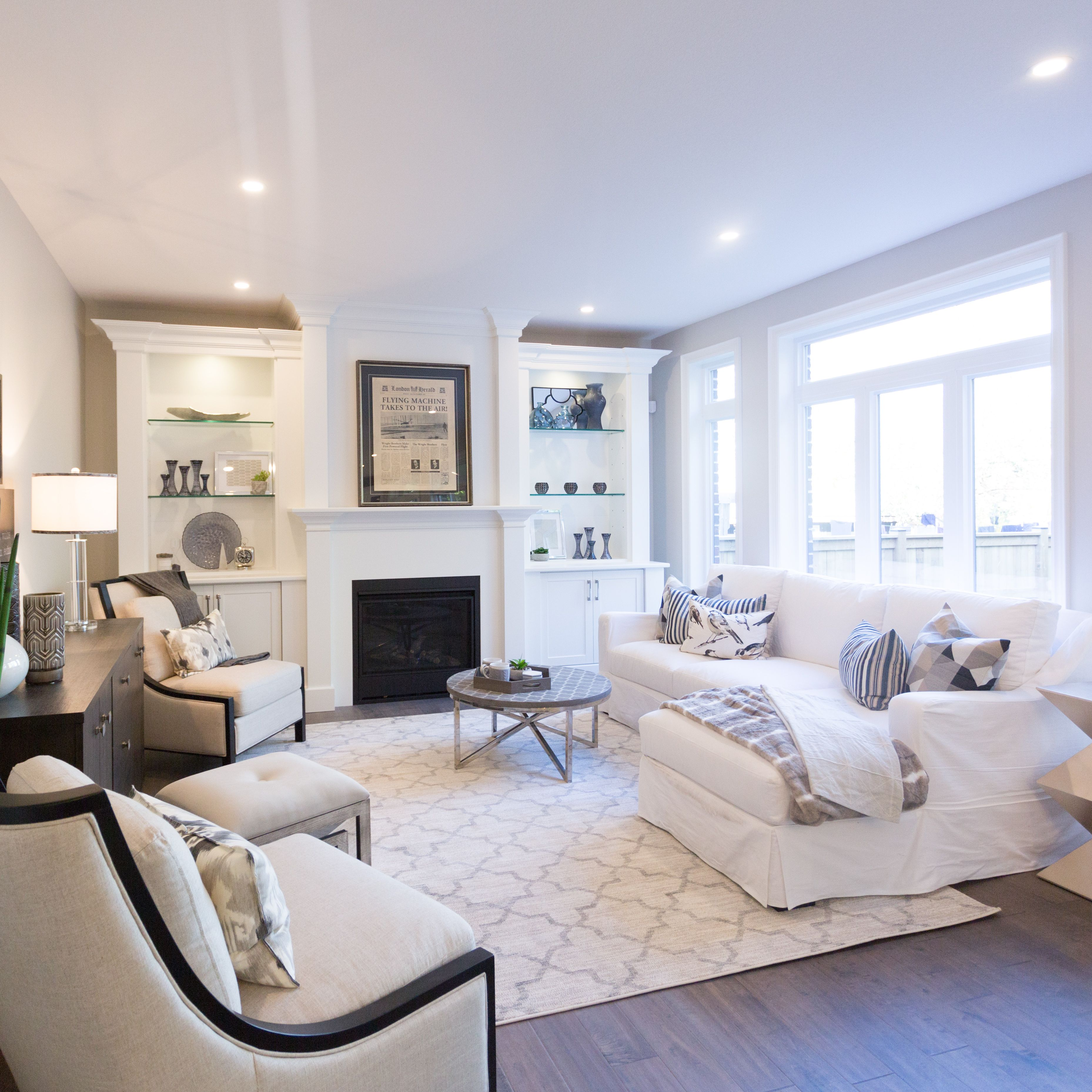 Staged Living Room c/o Plum Staging & Decor | Plum Staging & Decor ...