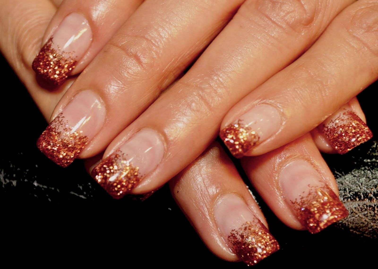 Gold Glitter Nails See our selection at http//www