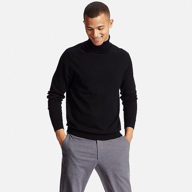 Uniglo mens merino black jumper