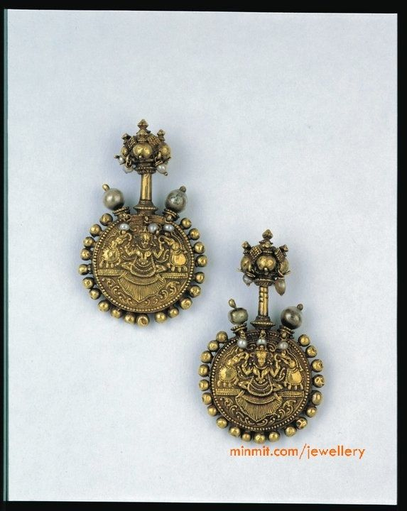 South Indian Antique Ear Bugadi South Indian Jewellery