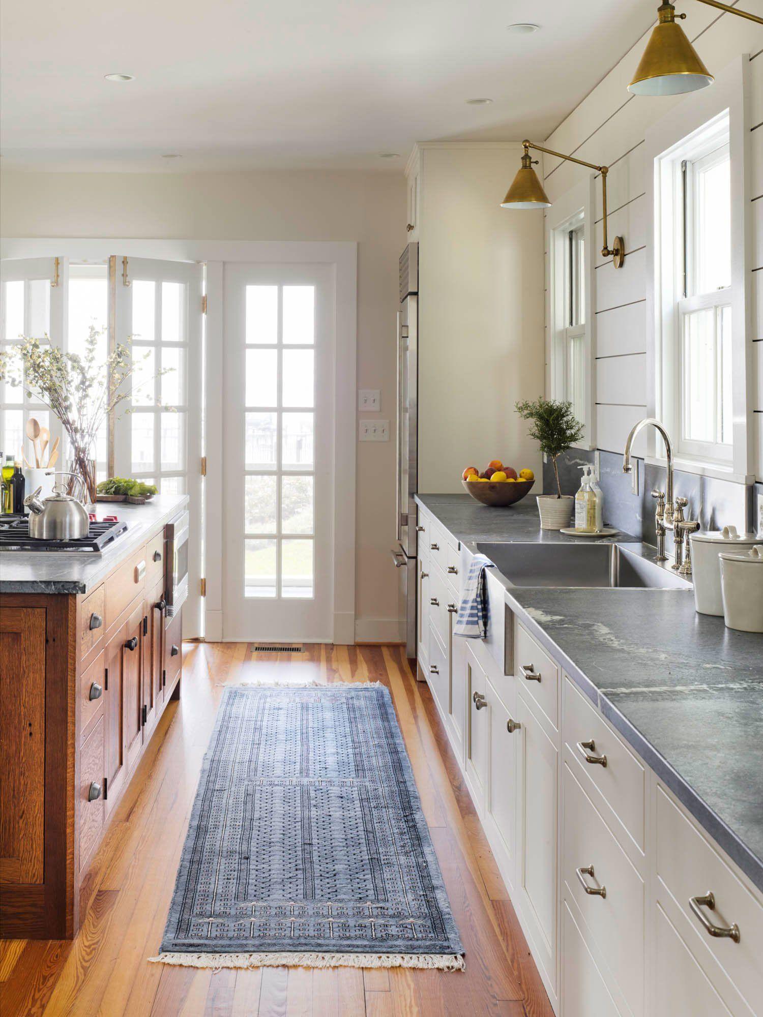 Tour This Stunning Waterfront Farmhouse Kitchen Style Contemporary Kitchen Kitchen Remodel