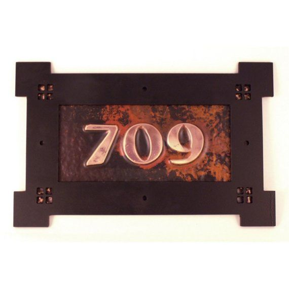 Personalized Copper Craftsman Style Address Sign Craftsman Style Craftsman Address Sign