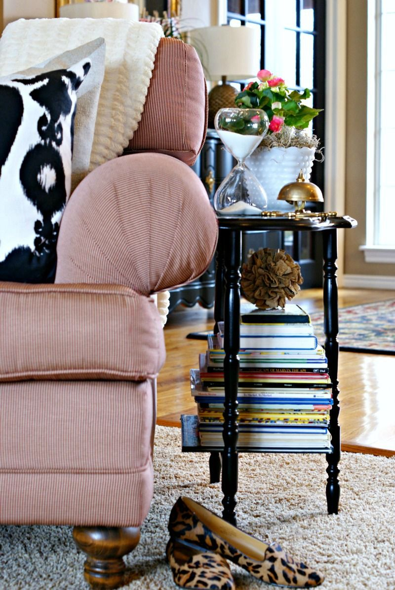 Pottery Barn Inspired Styling Side Demilune Table