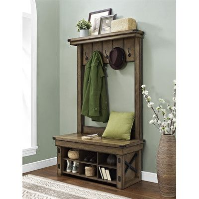 Inspirational Entry Table with Shoe Storage