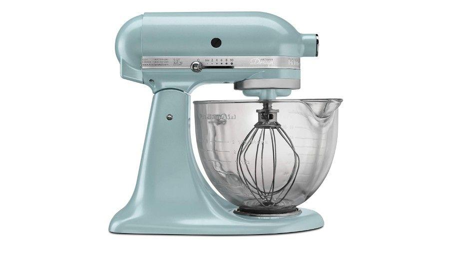 kitchenaid 5 qt mixer with glass bowl