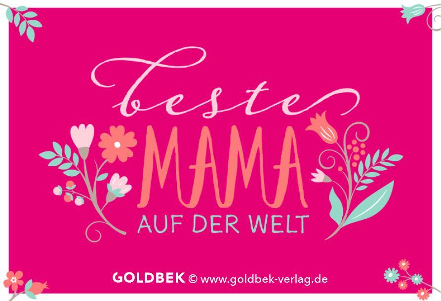 Postkarten muttertag beste mama auf der welt karten spr che bilder pinterest - Muttertag pinterest ...