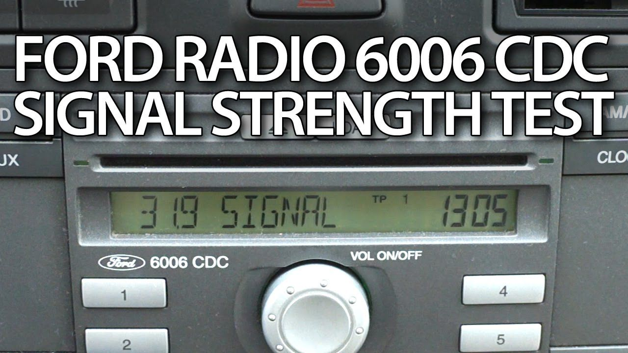 How to #test signal strength in #radio #Ford 6006 CDC