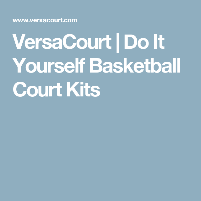 Versacourt Do It Yourself Basketball Court Kits Sport Stuff