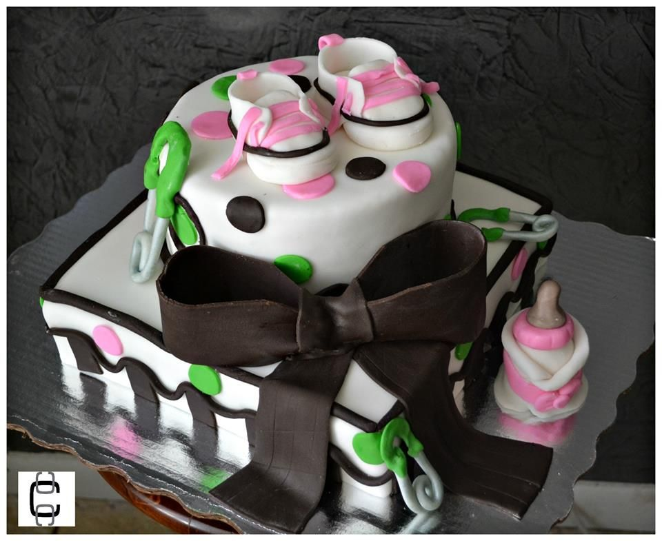 Girl Baby Shower Party Ideas / Girl Baby Shower Cake Ideas / Pastel De Baby  Shower