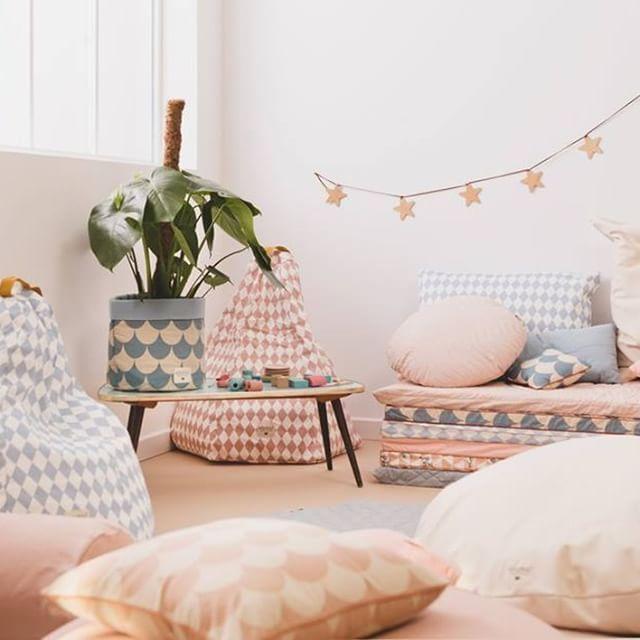 Cesto de tela bonito y original para decorar habitaci n for Habitacion infantil original