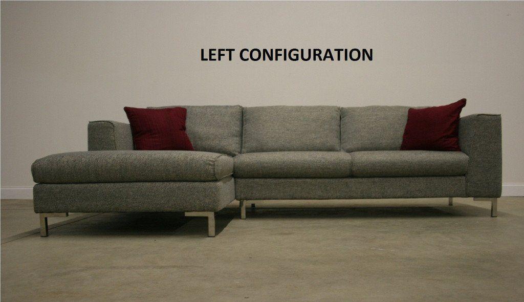 Exclusive Modern Furniture Edition 64 Bennetti Sectional Sofa Ferrara Dark Gray