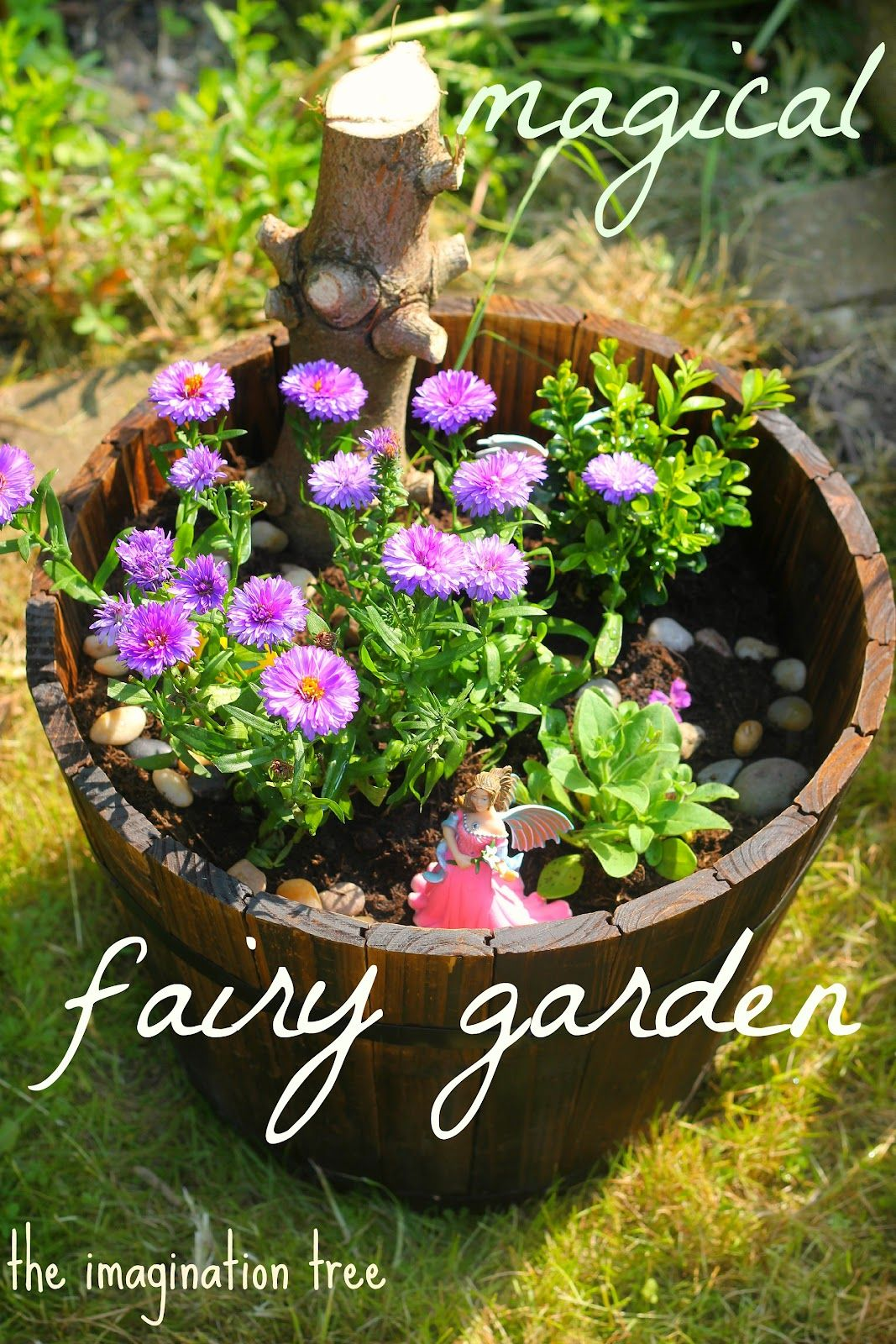 Make a magical fairy garden for kids to encourage imaginative outdoor play and storytelling