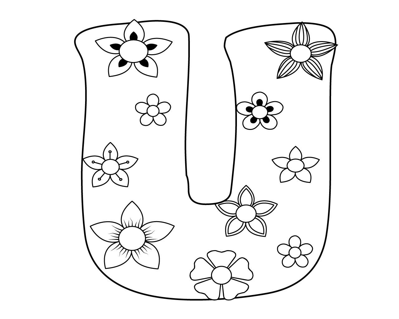 Letter U Coloring Page To Print for Your Little Ones
