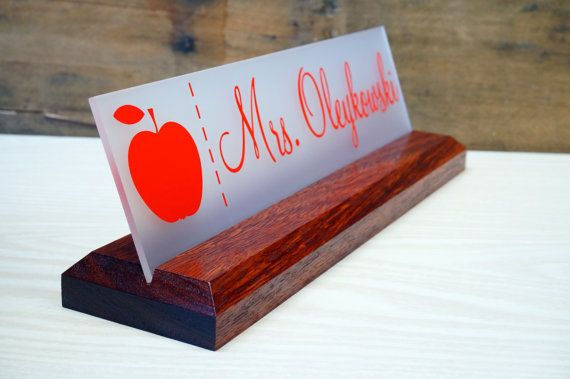 Teacher Desk Name Plate Personalized Professional Wood Sign Gift 10 X 2 5 On Etsy 19 99