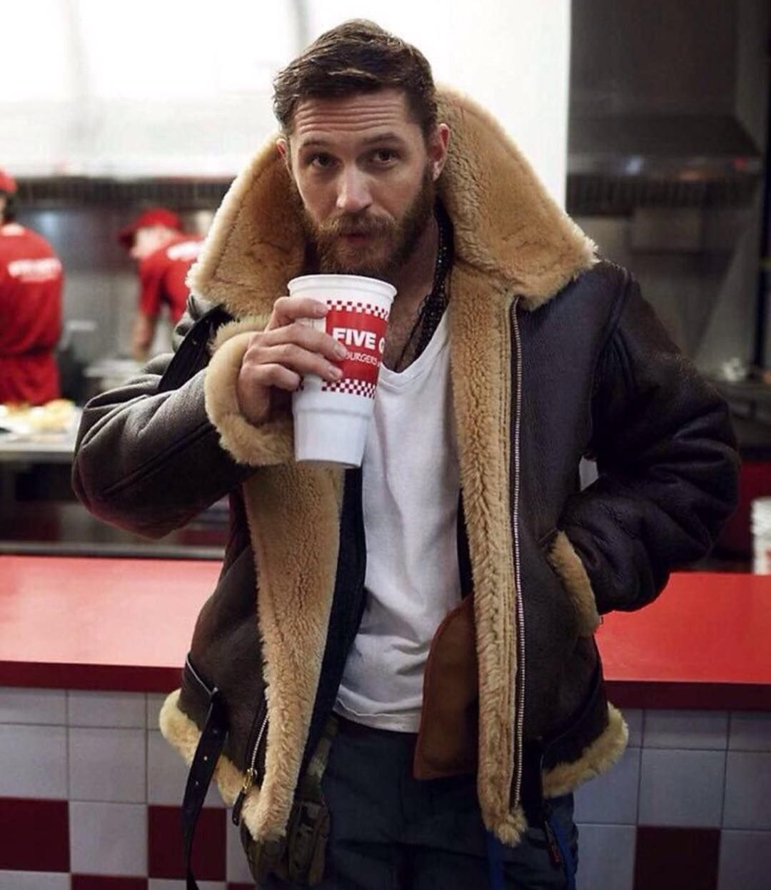 ac42ede43 Cockpit USA Shearling coat worn by @tomhardy_real | Bits & Pieces ...