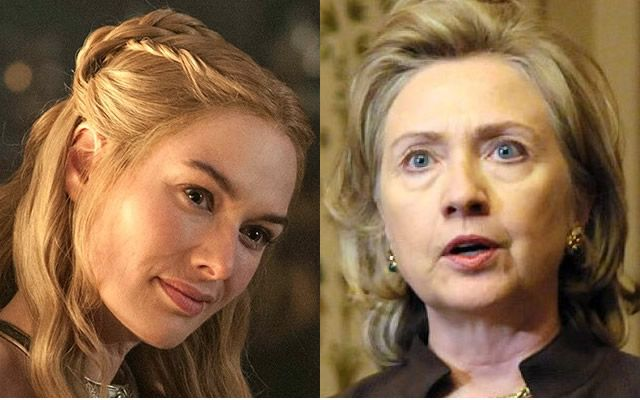 Cersei Lannister and Hillary Clinton any similarity?