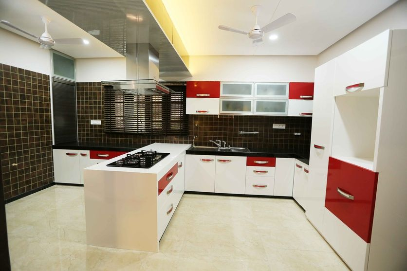 Large Kitchen, Design by Rajni Patel, Architect in Ahmedabad ...